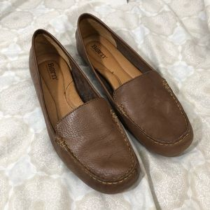Born brown leather driving loafer